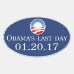 Pegatina pasado 2017 del día de Obama