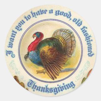 Pegatina pasado de moda de la acción de gracias