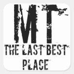 Pegatina pasado del lugar de Montana mejor