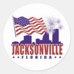 Pegatina patriótico de Jacksonville la Florida