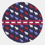 Pegatina patriótico de los elefantes