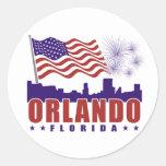 Pegatina patriótico de Orlando la Florida