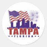 Pegatina patriótico de Tampa la Florida