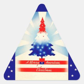 Pegatina patriótico del árbol de los Felices