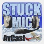 Pegatina pegado del Mic AvCast