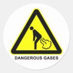 Pegatina peligroso de la señal de peligro de los