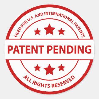 Pegatina pendiente de la patente