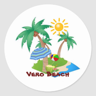 Pegatina perfecto de las vacaciones de VERO BEACH