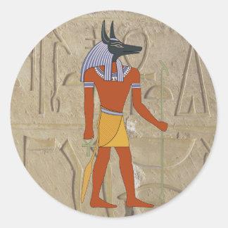Pegatina permanente de Anubis