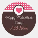 Pegatina personalizado amor del el día de San Vale