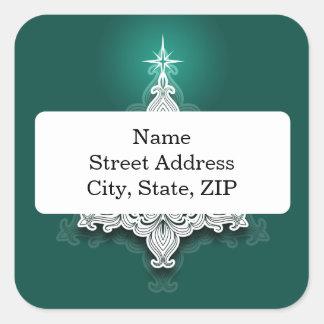 Pegatina personalizado árbol de navidad de encaje