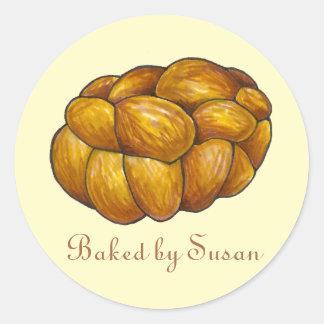 Pegatina personalizado cocido pan del pan del jalá