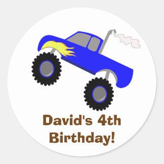 Pegatina personalizado cumpleaños del monster truc