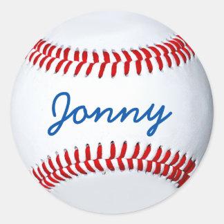 Pegatina personalizado de la foto del béisbol