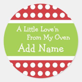 Pegatina personalizado de Love'n del navidad