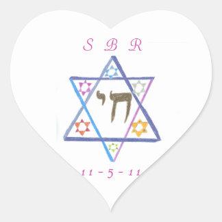 Pegatina personalizado de Mitzvah del palo