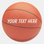 Pegatina personalizado del baloncesto