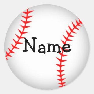 Pegatina personalizado del béisbol