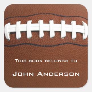 Pegatina personalizado del Bookplate del fútbol