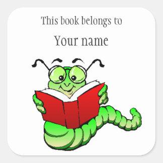 Pegatina personalizado del Bookplate del ratón de