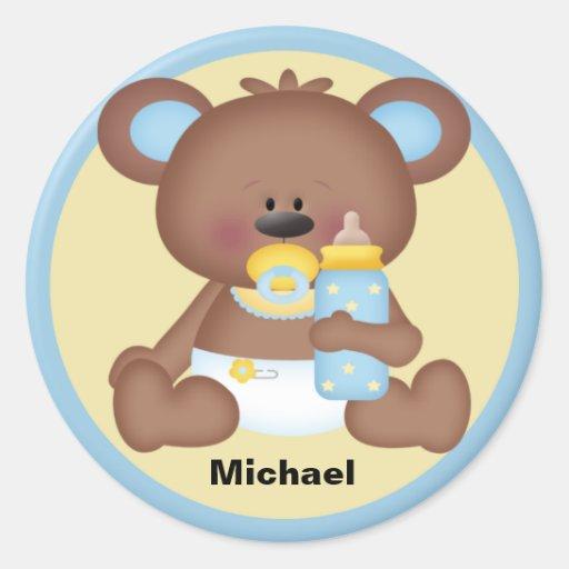 Pegatina personalizado del oso del bebé