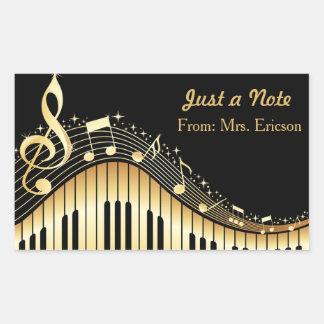 Pegatina personalizado del piano musical y del