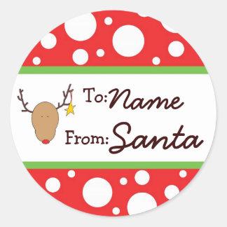 Pegatina personalizado del regalo de Santa