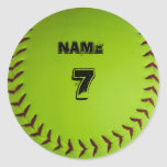 Pegatina personalizado del softball