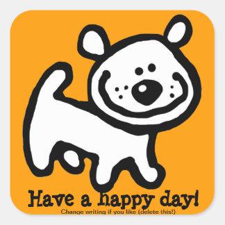 Pegatina personalizado feliz PPL del perro de