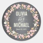 Pegatina personalizado guirnalda floral