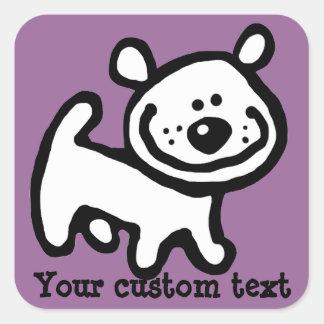 Pegatina personalizado lindo PPL del perro de