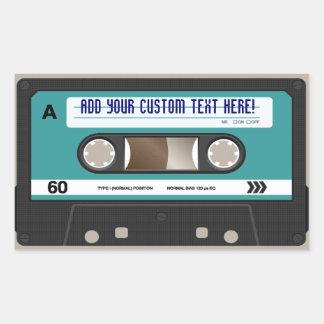 Pegatina personalizado retro de la cinta de casete