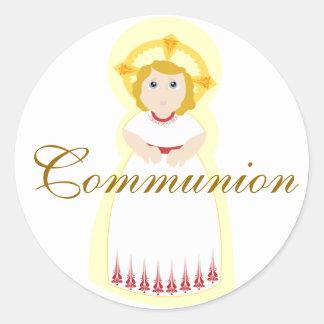 Pegatina-Personalizar de la comunión Pegatina Redonda