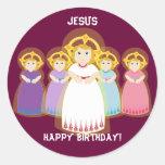 Pegatina-Personalizar del cumpleaños de Jesús