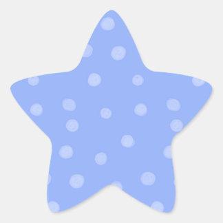 Pegatina pintado de la estrella azul de los puntos