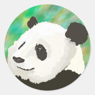 Pegatina pintado de la panda