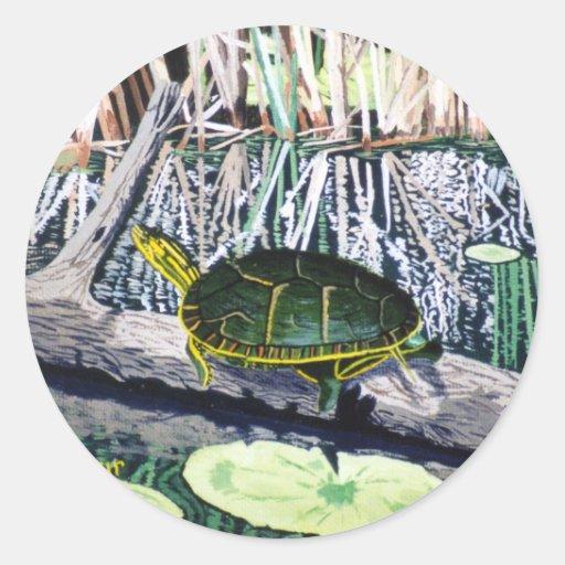 Pegatina pintado de la tortuga