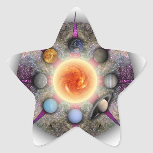 Pegatina planetario de la estrella de la mandala
