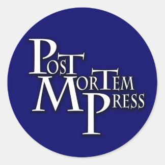 Pegatina post mortem de la prensa