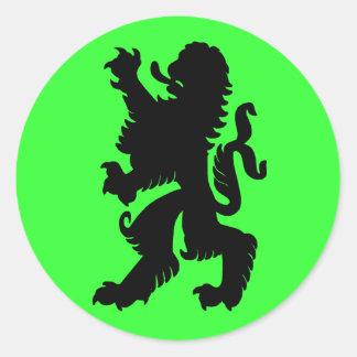 Pegatina potente del león