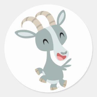 Pegatina Prancing de la cabra del dibujo animado