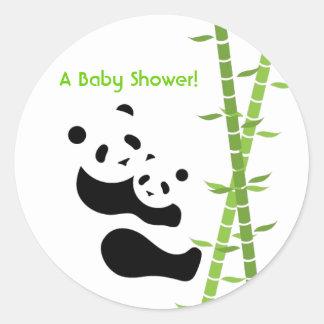 Pegatina precioso de los osos de panda