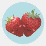 Pegatina precioso de los pares de la fresa