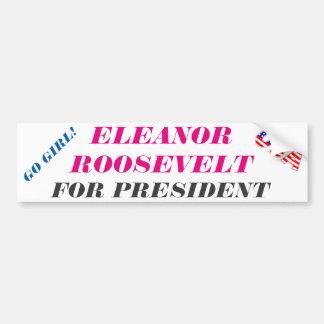 Pegatina presidencial: Presidente de Eleanor Pegatina Para Auto