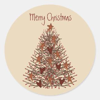 Pegatina primitivo del árbol de navidad