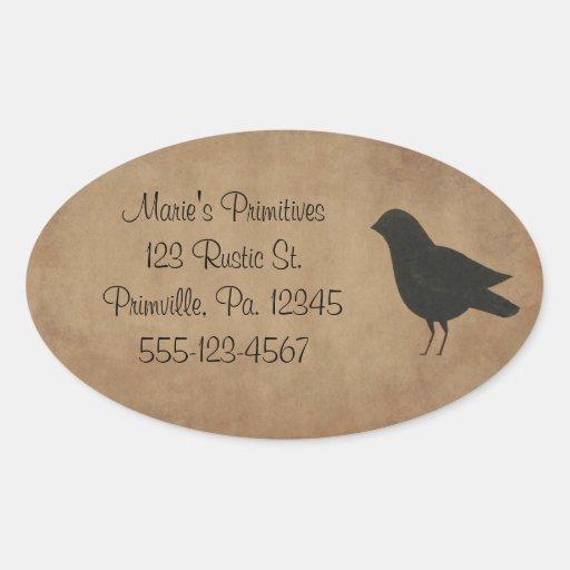 Pegatina primitivo del cuervo