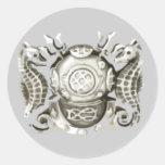 Pegatina principal del buceador (plata)