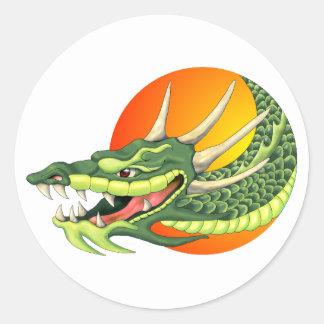 pegatina principal del dragón