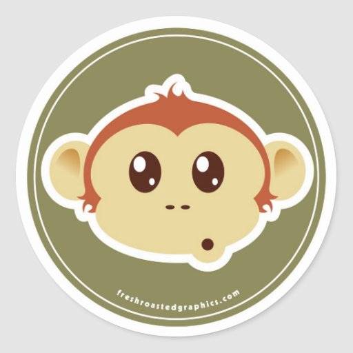 Pegatina principal del mono