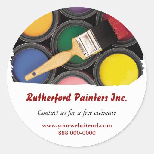 Pegatina promocional de los pintores